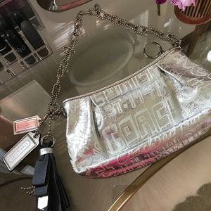 Coach Limited Edition Poppy Silver Storypatch